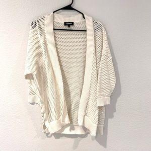 Cream fishnet cardigan